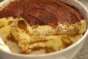 Tiramisu gemaakt volgens het recept uit SOS Piet